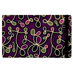 Elegant Purple Pattern Apple Ipad 3/4 Flip Case by Valentinaart