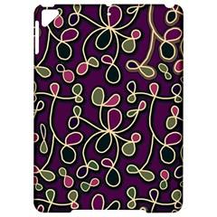 Elegant Purple Pattern Apple Ipad Pro 9 7   Hardshell Case