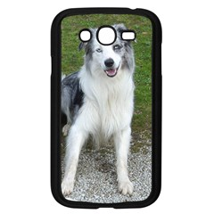 Blue Merle Border Collie Sitting Samsung Galaxy Grand DUOS I9082 Case (Black) by TailWags