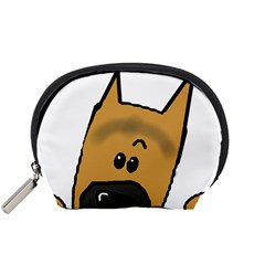 Peeping German Shepherd Accessory Pouches (small)  by TailWags
