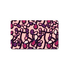Pink And Purple Pattern Magnet (name Card) by Valentinaart