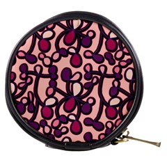 Pink And Purple Pattern Mini Makeup Bags by Valentinaart
