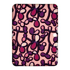 Pink and purple pattern Samsung Galaxy Tab 4 (10.1 ) Hardshell Case  by Valentinaart
