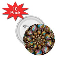 Marbled Spheres Spiral 1 75  Buttons (10 Pack) by WolfepawFractals