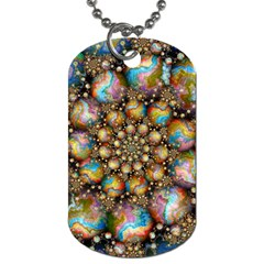 Marbled Spheres Spiral Dog Tag (one Side) by WolfepawFractals
