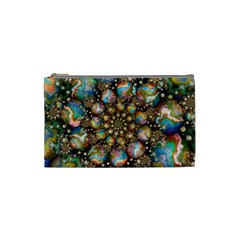 Marbled Spheres Spiral Cosmetic Bag (small)  by WolfepawFractals