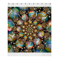 Marbled Spheres Spiral Shower Curtain 60  X 72  (medium)  by WolfepawFractals