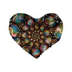 Marbled Spheres Spiral Standard 16  Premium Heart Shape Cushions by WolfepawFractals