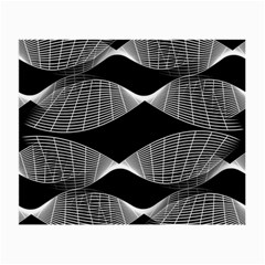 Wavy Lines Black White Seamless Repeat Small Glasses Cloth (2 Side)