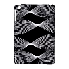 Wavy Lines Black White Seamless Repeat Apple Ipad Mini Hardshell Case (compatible With Smart Cover) by CrypticFragmentsColors
