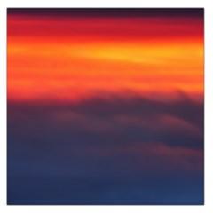 Sunrise Colors Purple Orange Pink Large Satin Scarf (square)