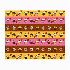 Cupcakes Pattern Small Glasses Cloth (2 Side) by Valentinaart