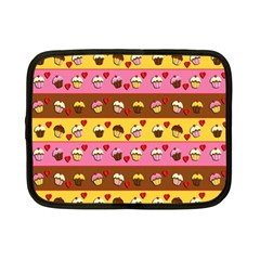 Cupcakes Pattern Netbook Case (small)  by Valentinaart