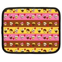 Cupcakes Pattern Netbook Case (large) by Valentinaart