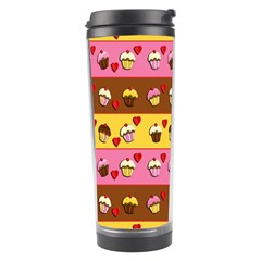 Cupcakes Pattern Travel Tumbler by Valentinaart