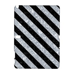 Stripes3 Black Marble & Gray Marble (r) Samsung Galaxy Note 10 1 (p600) Hardshell Case by trendistuff