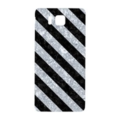 Stripes3 Black Marble & Gray Marble (r) Samsung Galaxy Alpha Hardshell Back Case by trendistuff