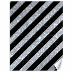 Stripes3 Black Marble & Gray Marble Canvas 36  X 48  by trendistuff