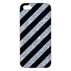 Stripes3 Black Marble & Gray Marble Apple Iphone 5 Premium Hardshell Case