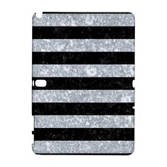 Stripes2 Black Marble & Gray Marble Samsung Galaxy Note 10 1 (p600) Hardshell Case by trendistuff