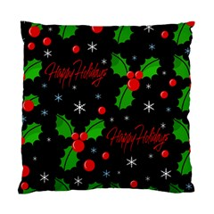 Happy Holidays Pattern Standard Cushion Case (one Side) by Valentinaart