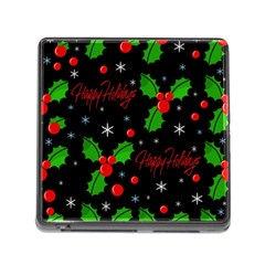 Happy holidays pattern Memory Card Reader (Square)
