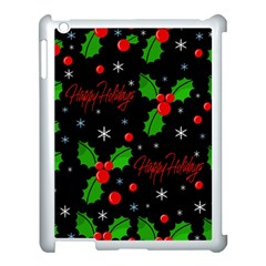 Happy Holidays Pattern Apple Ipad 3/4 Case (white) by Valentinaart