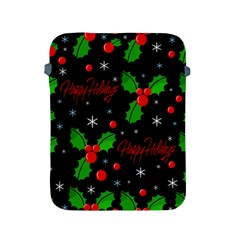 Happy Holidays Pattern Apple Ipad 2/3/4 Protective Soft Cases by Valentinaart