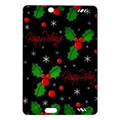Happy Holidays Pattern Amazon Kindle Fire Hd (2013) Hardshell Case by Valentinaart