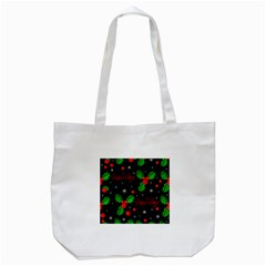 Happy Holidays Pattern Tote Bag (white) by Valentinaart