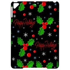 Happy Holidays Pattern Apple Ipad Pro 9 7   Hardshell Case