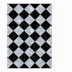 Square2 Black Marble & Gray Marble Small Garden Flag (two Sides) by trendistuff