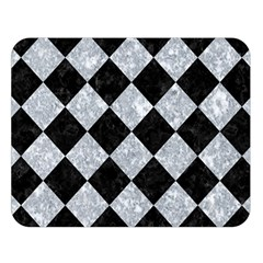 Square2 Black Marble & Gray Marble Double Sided Flano Blanket (large) by trendistuff