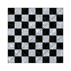 Square1 Black Marble & Gray Marble Acrylic Tangram Puzzle (6  X 6 ) by trendistuff