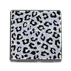 Skin5 Black Marble & Gray Marble Memory Card Reader (square) by trendistuff