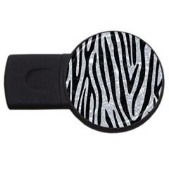 Skin4 Black Marble & Gray Marble Usb Flash Drive Round (2 Gb) by trendistuff