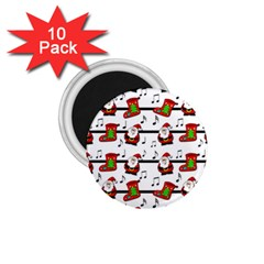 Xmas Song Pattern 1 75  Magnets (10 Pack)  by Valentinaart