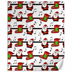 Xmas Song Pattern Canvas 16  X 20   by Valentinaart