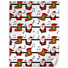 Xmas Song Pattern Canvas 36  X 48   by Valentinaart