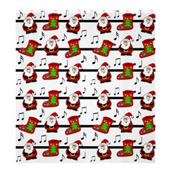 Xmas Song Pattern Shower Curtain 66  X 72  (large)  by Valentinaart