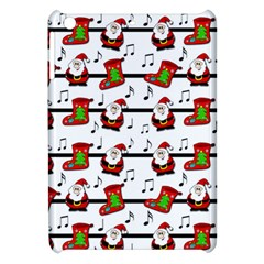 Xmas Song Pattern Apple Ipad Mini Hardshell Case by Valentinaart