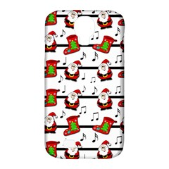 Xmas Song Pattern Samsung Galaxy S4 Classic Hardshell Case (pc+silicone) by Valentinaart