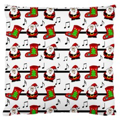 Xmas Song Pattern Large Flano Cushion Case (one Side) by Valentinaart