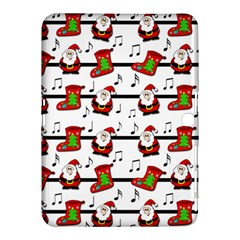 Xmas Song Pattern Samsung Galaxy Tab 4 (10 1 ) Hardshell Case  by Valentinaart