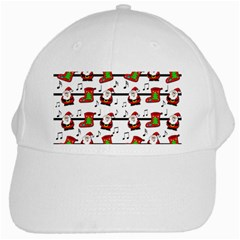 Xmas Song Pattern White Cap by Valentinaart