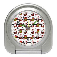 Xmas Song Pattern Travel Alarm Clocks by Valentinaart