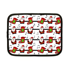 Xmas Song Pattern Netbook Case (small)  by Valentinaart