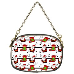 Xmas Song Pattern Chain Purses (two Sides)  by Valentinaart