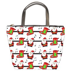 Xmas Song Pattern Bucket Bags by Valentinaart