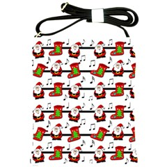 Xmas Song Pattern Shoulder Sling Bags by Valentinaart